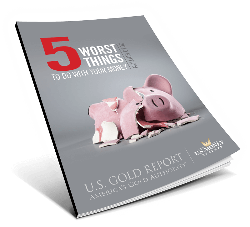 book of 5 worst things to do with your money and a broken piggy bank