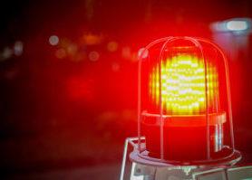 red yellow alarm lighting up
