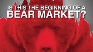 enlarged red grizzly bear indicating that this is the beginning of a bear market