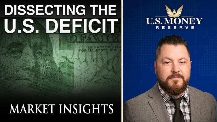 Patrick Brunson providing market insights on dissecting the u.s. deficit referring to u.s. currency