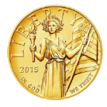 High Relief Gold American Liberty Coin