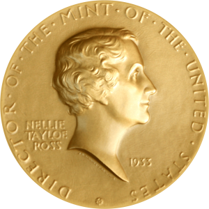 Bronze Medal 1933 United States Nellie Tayloe Ross, Director of the Mint