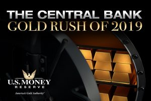 Gold bars in vault to illustrate central banks are buying gold in 2019