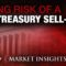 U.S> treasury building with red graph overlay are we at risk rising massive sell off