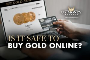 Is It Safe to Buy Gold Online? Person Holding Their Credit Card and Looking to Buy Gold Coins Online