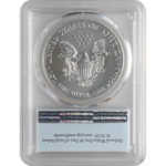 2019 MS70 Silver Eagle Coin, Back