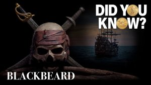 Blackbeard - Did You Know? - Skull with crossed swords in a dark background