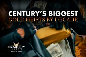 Century's Biggest Gold Heists by Decade