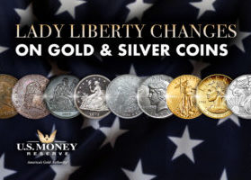 Lady Liberty Changes on Gold and Silver Coins