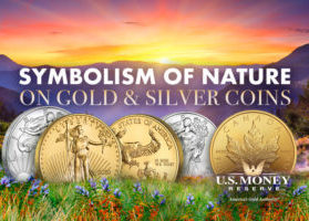 Symbolism of Nature on Gold and Silver Coins