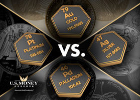 Gold Compared to Silver, Palladium, and Platinum