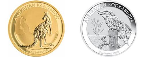 AUSTRALIAN KANGAROO / KOOKABURRA COINS