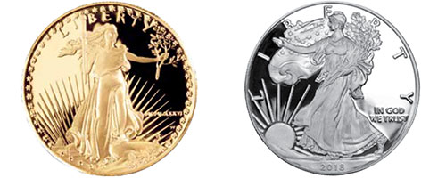 Proof Gold and Silver American Eagles