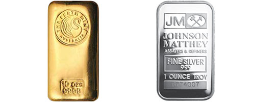 PURE GOLD AND SILVER BARS