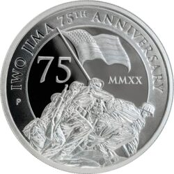 2-oz. Proof Silver Piedfort Iwo Jima Coin