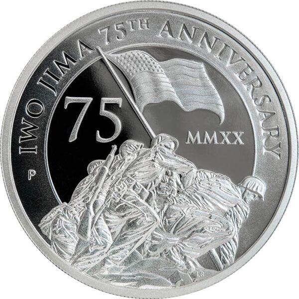 2-oz. Proof Silver Piedfort Iwo Jima Coin