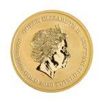 Back of Iwo Jima Gold Bullion Coin showing Queen Elizabeth II