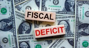 Fiscal Deficit Blocks & Dollar Bills