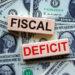 Fiscal Deficit Blocks & Dollar Bills