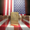 American Flag & Gold Bar