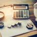 Calculator Plan Coins Piggy Bank